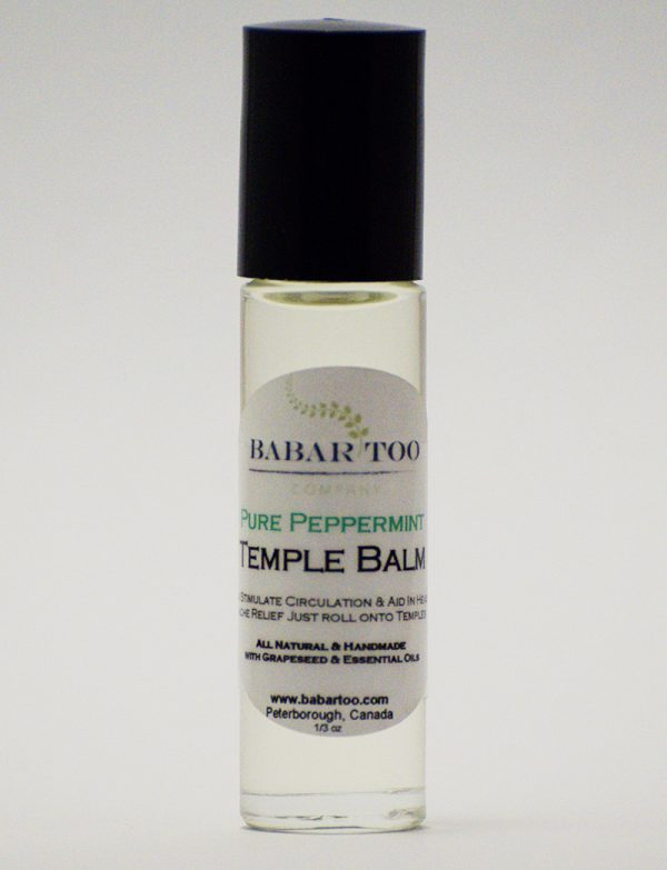 Babar Too – Temple Balm – Pure Peppermint – 12oz – Clear