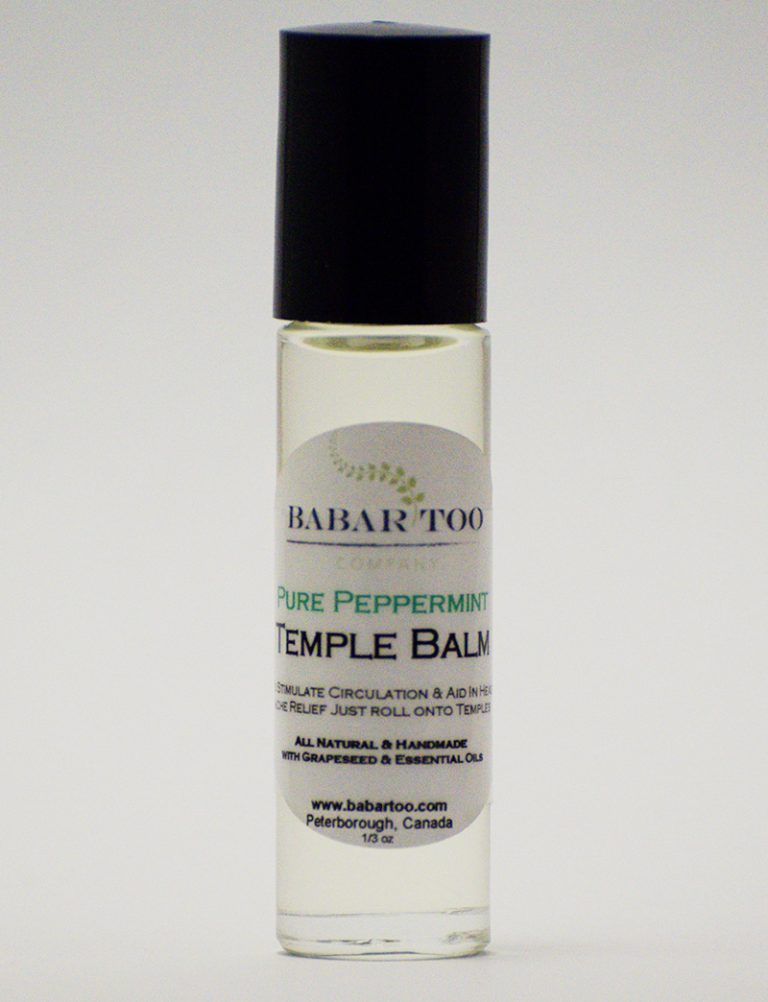 Babar Too – Temple Balm – Pure Peppermint – 12oz – Clear