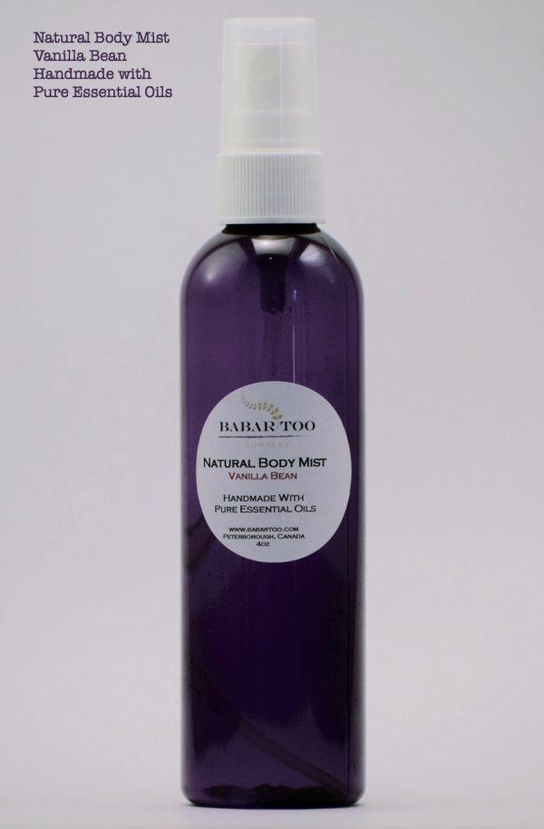 Babar Too – Natural Body Mist – Vanilla Bean – 4oz – Purple w Desc