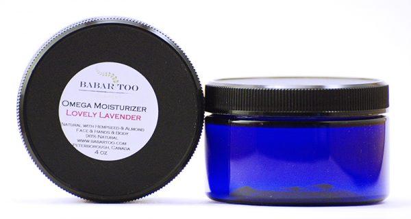 Babar Too – Omega Moisturizer – Lovely Lavender – 4oz – Blue